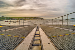 Down the Swanage Lifeboat slipway Royalty Free Stock Image