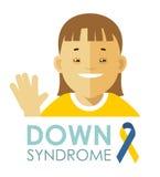 Down Syndrome begrepp Arkivbild