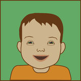 Down Syndrome Child. Head and shoulders of boy with down syndrome Royalty Free Stock Photos