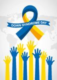 Down syndrome day card royalty free illustration