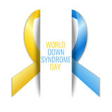 Down Syndrome ribbon poster Stock Images