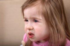 Down- Syndromemädchen Stockbild