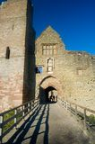 Down to the castle. Ludlow castle Royalty Free Stock Photos