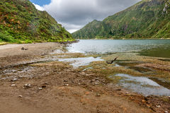 Down to Fire Lake in Sao Miguel, Azores Royalty Free Stock Photography