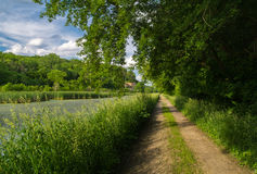 Down the tow path. Royalty Free Stock Photo