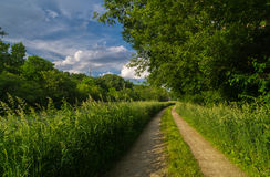 Down the tow path. Royalty Free Stock Images