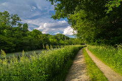 Down the tow path. Royalty Free Stock Photography