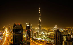 Down Town Dubai. Including Sheikh Zayed road Stock Photography