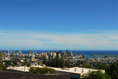 Down Town Honolulu. A view of down town Honolulu from Kamehameha School Stock Images