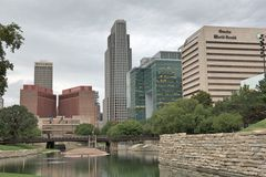 Down Town Omaha Nebraska Stock Photos
