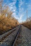 Down the tracks. Stock Photo
