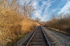 Down the tracks. Royalty Free Stock Image