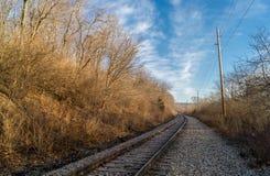 Down the tracks. Royalty Free Stock Photos