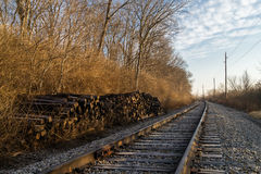 Down the tracks. Royalty Free Stock Photography