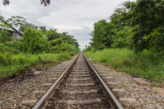 Down the Tracks of Thailand Royalty Free Stock Image
