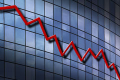 Down Trend Chart Stock Image