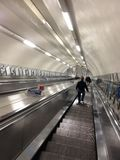 Down the tube. London Underground station Royalty Free Stock Photography