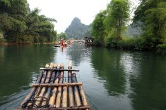 Down the Yulong River Royalty Free Stock Photo