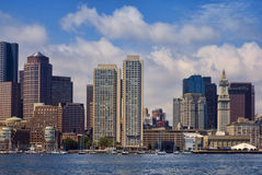 Downdown Boston from the Harbor Royalty Free Stock Photo