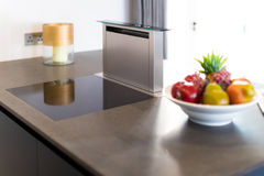 Downdraft Cooker Hood, Stainless Steel Royalty Free Stock Images