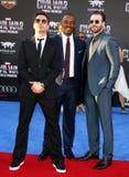downey jr Robert , Anthony Mackie και Chris Evans Στοκ φωτογραφία με δικαίωμα ελεύθερης χρήσης