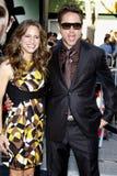downeyjr robert och Susan Downey Royaltyfri Fotografi