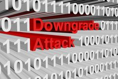Downgrade attack Stock Images