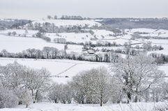 Downham Hill in Snow Royalty Free Stock Photos