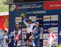 Downhill 2011 men elite champion Royalty Free Stock Image
