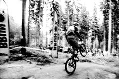 downhill fotografia stock
