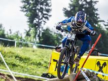 Downhill Biker at UCI Downhill Royalty Free Stock Images