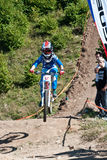 Downhill competition Royalty Free Stock Photos