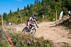 Downhill competition - motion blur Royalty Free Stock Photography