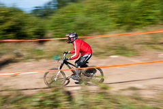 Downhill competition - motion blur Royalty Free Stock Photos