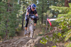 Downhill Cyclocross Bike Race royalty free stock images