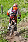 Downhill dirtbiker Royalty Free Stock Photography