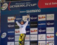 Downhill Junior World champion 2011 Stock Image