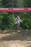 Downhill mountain biker Royalty Free Stock Photography