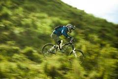 Downhill in Muela del Diablo, Bolivia. Biker during a ride with a Kona Bike in the andean peack of Bolivia Stock Photo