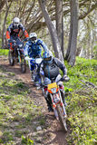Downhill riders Royalty Free Stock Image