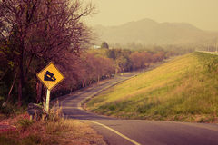 Downhill road Stock Photography