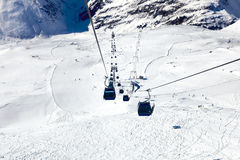 Downhill ropeway Stock Image