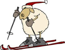 Downhill sheep Royalty Free Stock Images