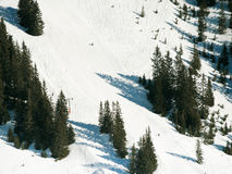 Downhill ski slopes in Saalbach Hinterglemm Stock Photography