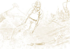 Downhill skier Stock Images