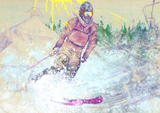 Downhill skier Royalty Free Stock Images