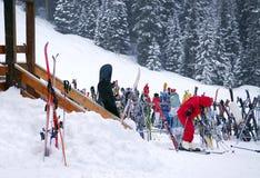 Downhill skiing Stock Photo