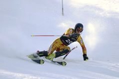Downhill skiing royalty free stock photo