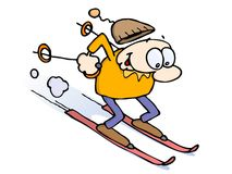 Downhill skiing Stock Images