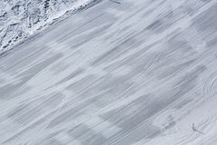 Downhill skiing, winter sport on the mountain Royalty Free Stock Photography